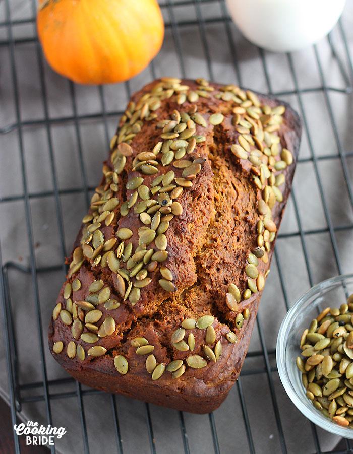 Whole pumpkin bread