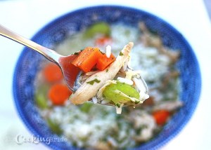 Spicy Chicken and Rice Soup - CookingBride.com