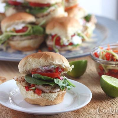 Baja Chicken Sliders