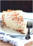 A shot of Kahlúa and brandy make this boozy, creamy, frozen Brandy Alexander pie a delicious decadent dessert that is for adults only.