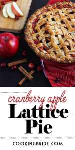 Lattice Cranberry Apple Pie