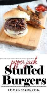 Pepper Jack Stuffed Burgers P