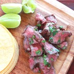 Skirt steak recipe is marinated in a combination of tequila, Worcestershire, soy sauce, garlic, and jalapenos. Grill it up and finish with a drizzle of fresh lime juice.