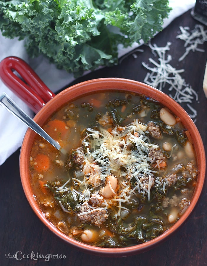 Cannellini Bean Sausage and Kale Soup - CookingBride.com