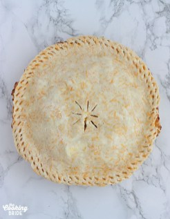 granny smith apple pie right before going in the oven
