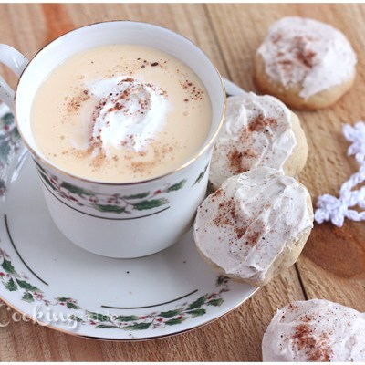 Eggnog Christmas Cookies with Buttercream Icing