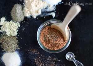 Try this spice rub on your favorite chicken, pork, or fish recipes. A variety of herbs and spices will add extra flavor to all your meat dishes.