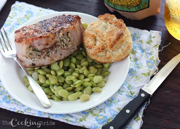 Herb Pesto Rice Stuffed Pork Loin Chops 094 WM