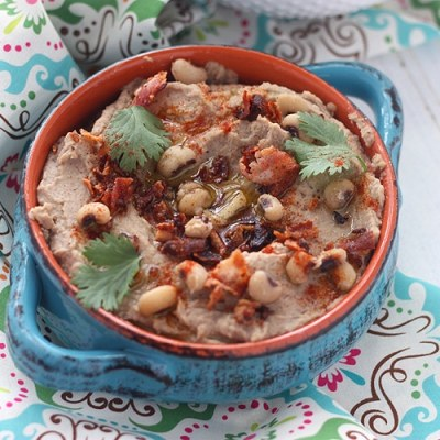 Bacon and Black Eyed Pea Hummus