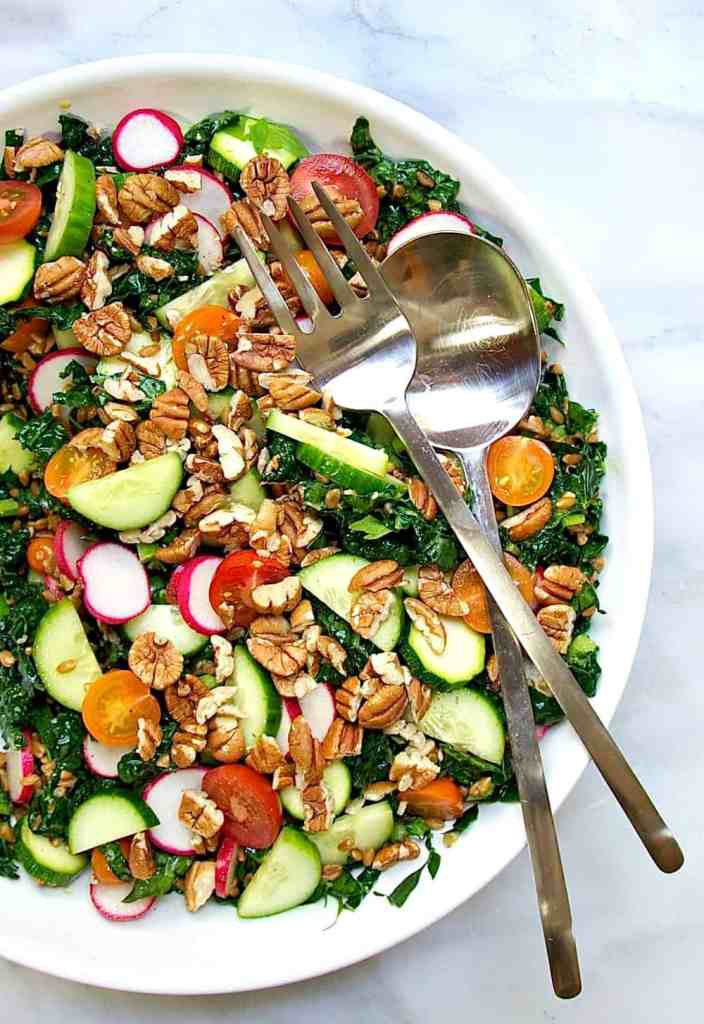 best zucchini recipes Farro-Salad-with-Raw-Vegetables-and-Pecans