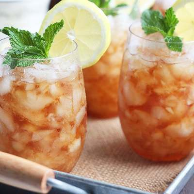 Sweet Tea Mint Julep Cocktail