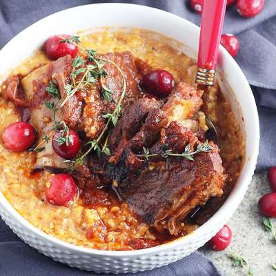 Cranberry Braised Beef Short Ribs
