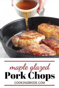 maple glazed pork loin chops