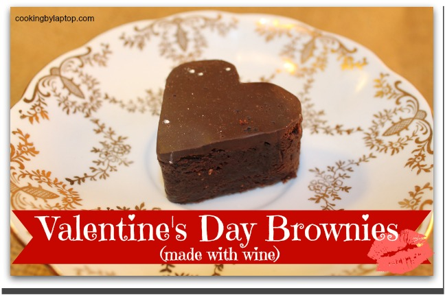 valentines day brownies made with wine