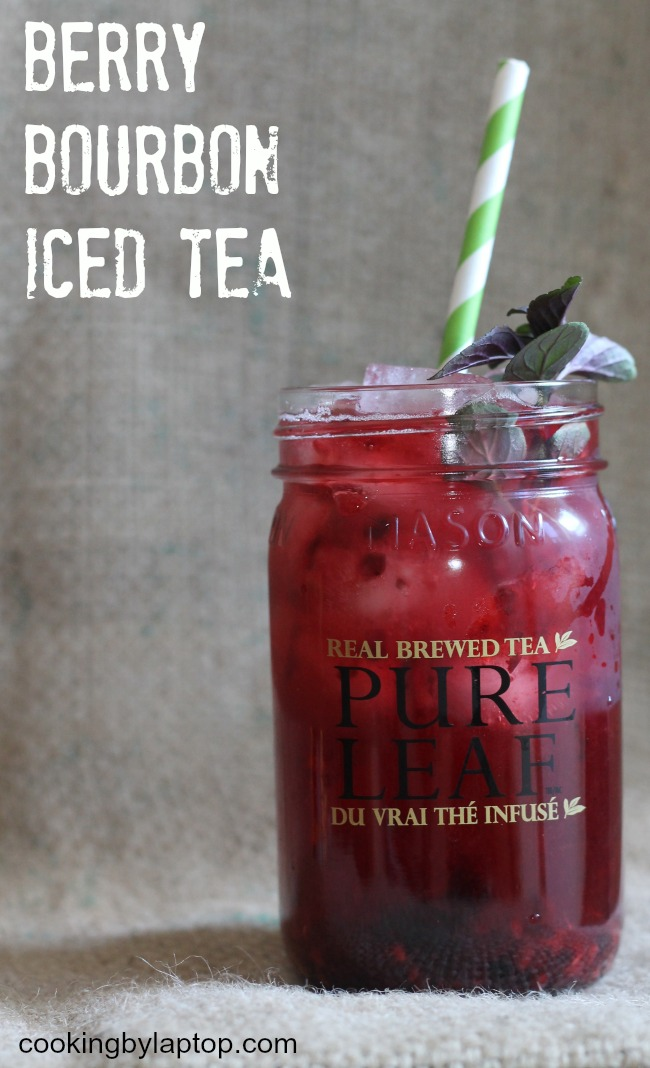 Berry bourbon iced tea cooking by laptop for Iced tea and whiskey drink