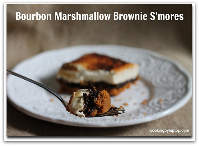 Bourbon Marshmallow Brownie S'mores