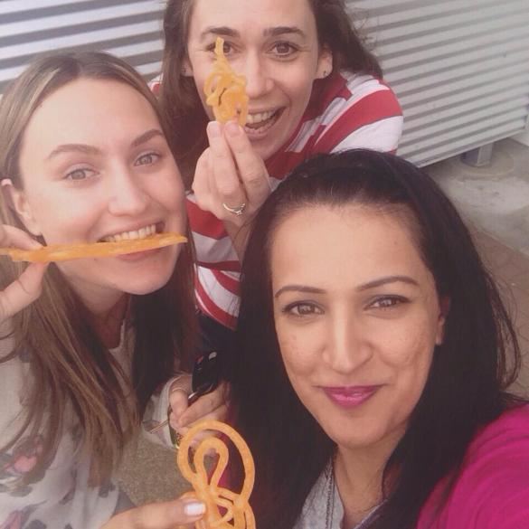 Three silly gals and their jalaibi!