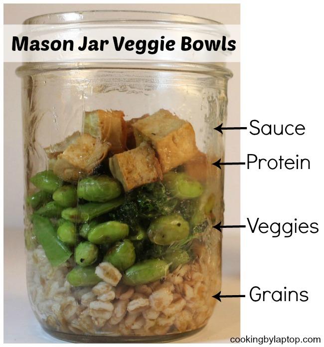 mason jar veggie bowls