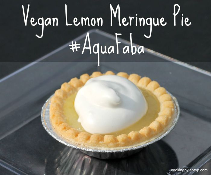 vegan lemon meringue pie #aquafaba