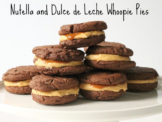 Nutella and Dulce de Leche Whoopie Pies