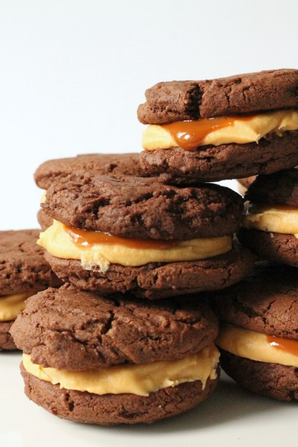 Nutella and Dulche de Leche Whoopie Pies