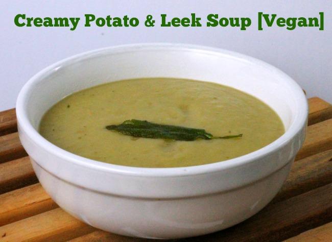 creamy potato and leek soup vegan