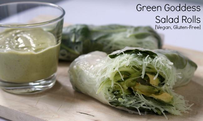 green goddess salad rolls vegan gluten free