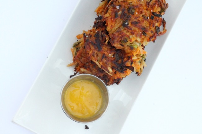 egetable fritters with mangomayo vegan gluten free