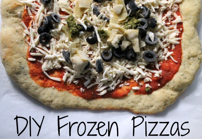 diy frozen pizzas