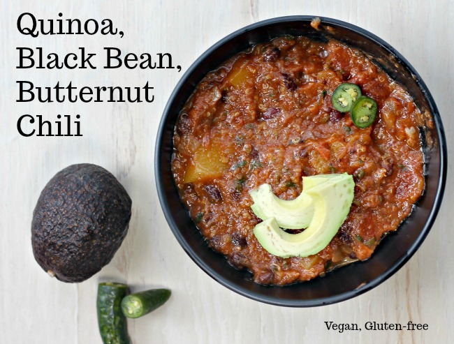 a, Black Bean, Butternut Chili