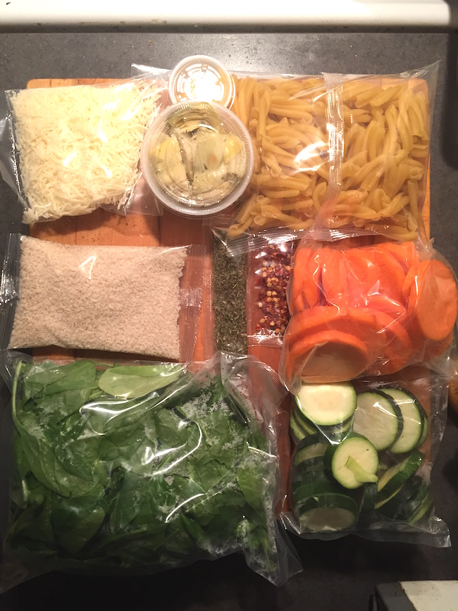 Fresh Prep Pasta ingredients