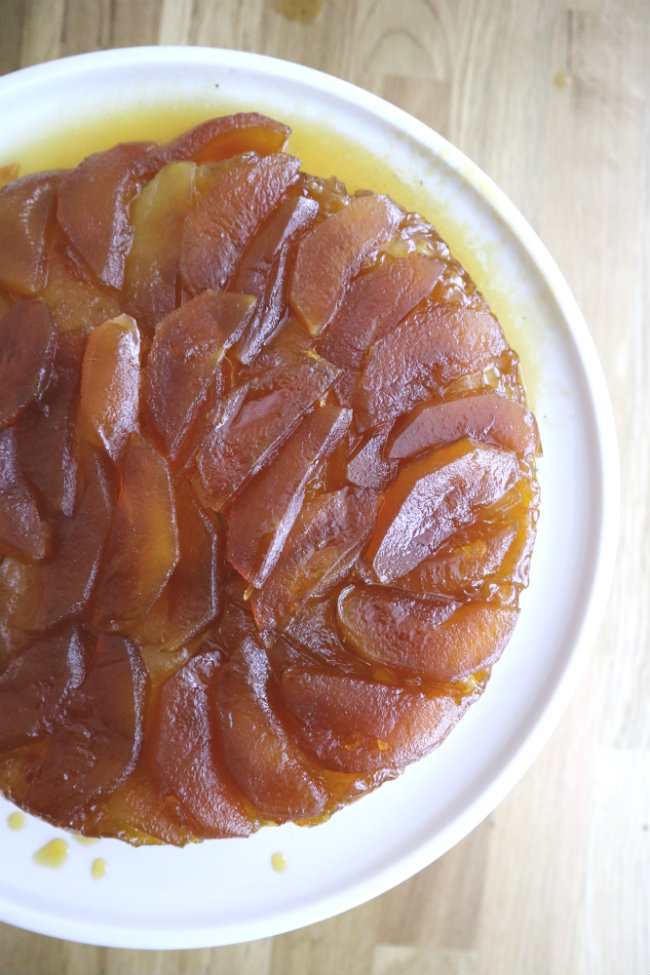 Julia Child's Apple Tarte Tatin Vegan