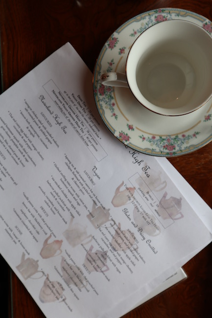 neverland tea salon vegan gluten free menu