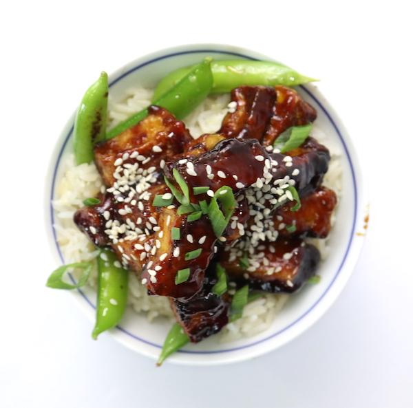 Tofu sweet & sticky