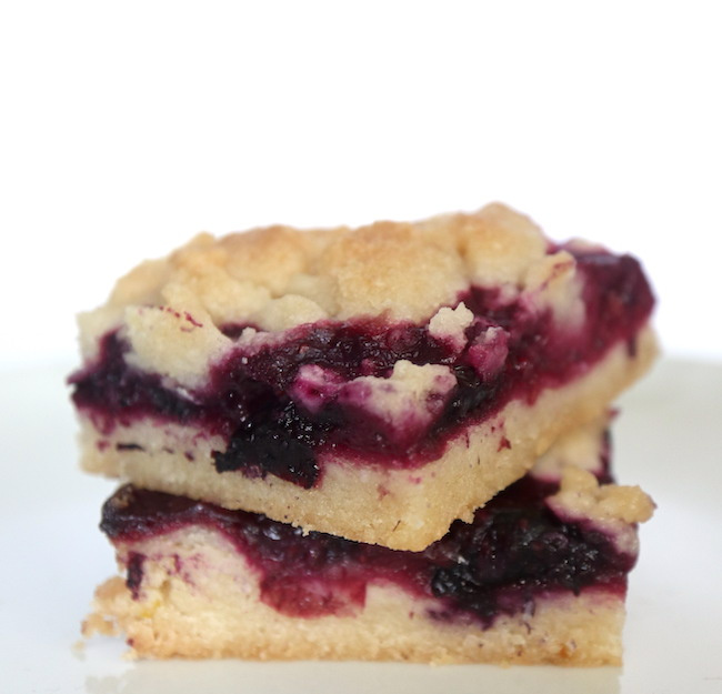 Blueberry Lemon Bars Vegan