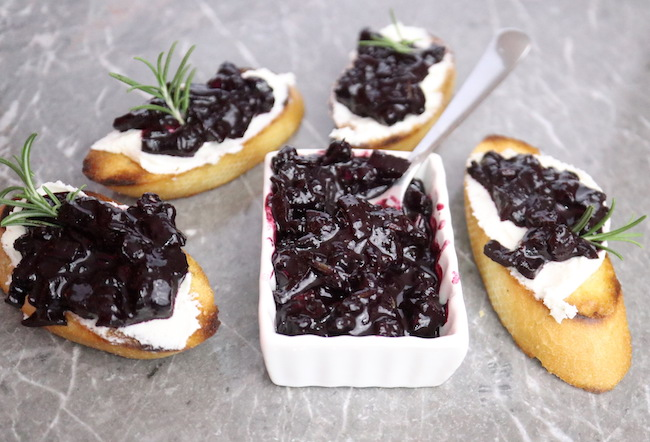 Blueberry Compote with Chevre