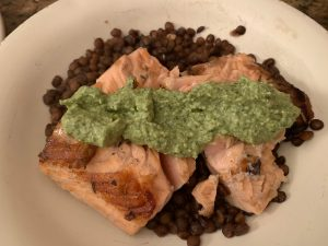 Salmon with Lentils and Green Goddess Sauce - CookingCoOp.com