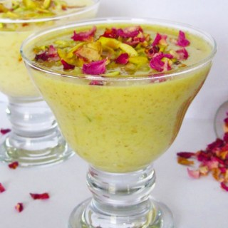 Thandai Kheer/Thandai Flavoured Rice Pudding