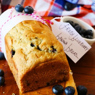 Fresh Blueberry Banana Bread