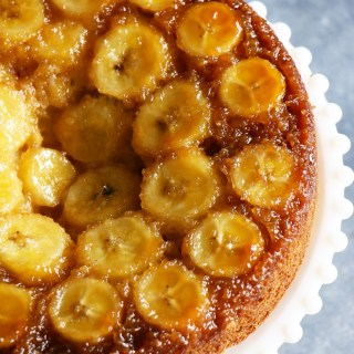Upside down Banana Caramel Cake