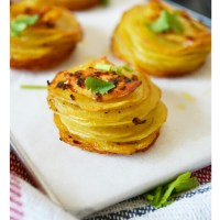 Garlic Potato Stacks
