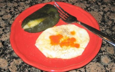 Egg and Poblano (or Anaheim) Chile