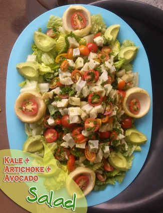Kale – Artichoke and Avocado Salad | Easy Meals