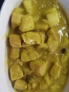 Curry Chicken With Apple And Coconut Milk