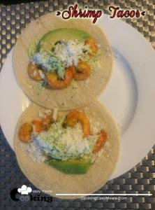 Shrimp Tacos with Garlic and Cilantro