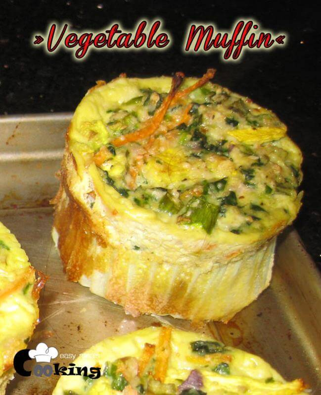 Vegetable Muffin | Cooking Easy Breakfast