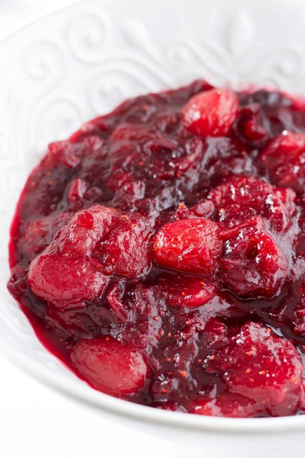 easy cranberry sauce with grapes