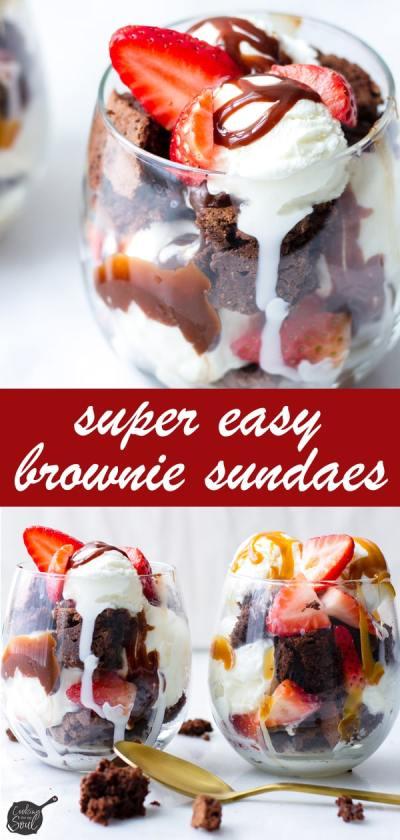 Chocolate Brownie Sundae with Hot Fudge