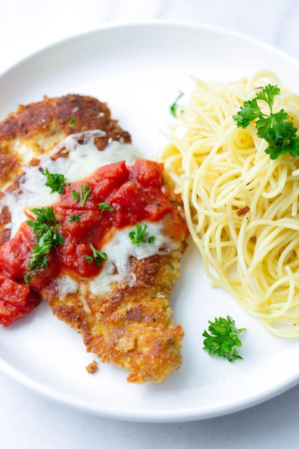 Easy Chicken Parmesan with Spaghetti