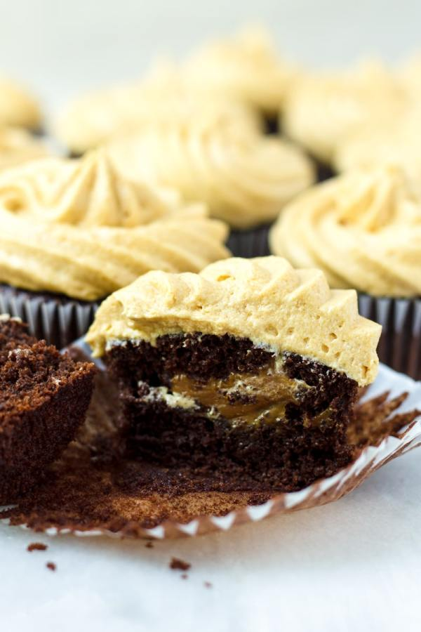 Dulce de Leche Cupcakes with Caramel Filling